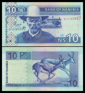 NAMIBIA-10-DOLLARS-2001-Pick-4-NEW-UNC
