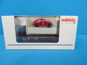 Marklin-46063-DB-Open-Goods-car-with-Beatle-BERLIN-FEUERWEHR