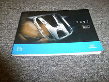 2007 Honda Fit Hatchback Owner Owner's Manual User Guide DX LX Sport 1.5L