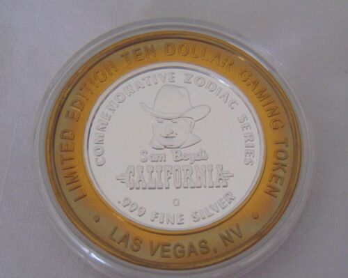 New California Hotel Casino $10.00 Gaming Token .999 Silver Year of the Sheep