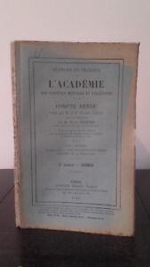 Ejercicio Y Trabajo ACADEMIA Las Ciencias Morales Y Politique - 1915 - N º 12