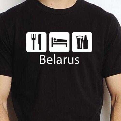 BELARUS EAT SLEEP DRINK BELARUS PERSONALISED T SHIRT