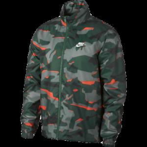 1efc966b6a01 Nike Sportswear Hooded Camo Jacket New Men s Green White Orange 2019 ...