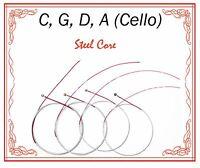 Paititi Cello String Set 4/4 Size Cello Premium Quality Steel Core Ball End
