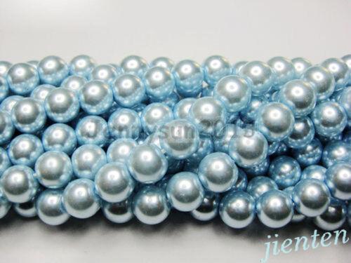 Various Colour 200x 4mm//100 x 6mm//50 x 8mm//20 x10mm//10x 12mm Glass Pearl Beads