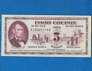 Food-Stamp-Coupon-1971-E15925178B-UNC-5-00-SCRIP-US-Dept-Of-Agriculture