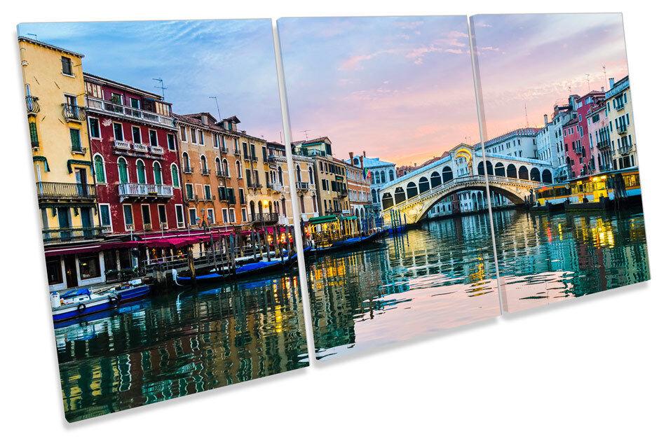 Rialto Bridge Venice  TREBLE CANVAS WALL ART Picture Print