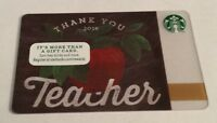 *STARBUCKS* Card - Thank You Teacher - NEW Never Been Used Gift Card NO $ Value