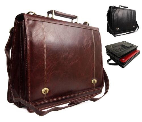 Qualità ECOPELLE Laptop business Satchel SCUOLA LAVORO UFFICIO VALIGETTA BORSA