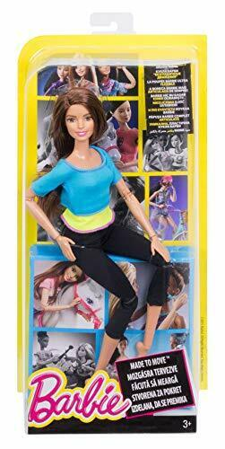 Details about  /Barbie Made To Move Doll Blue Top Articulated Pretty Toy NEW DJY08