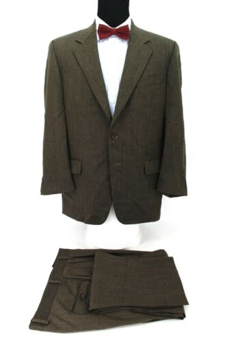 Joseph Abboud 2Btn Men's Suit Brown Herringbone Wo