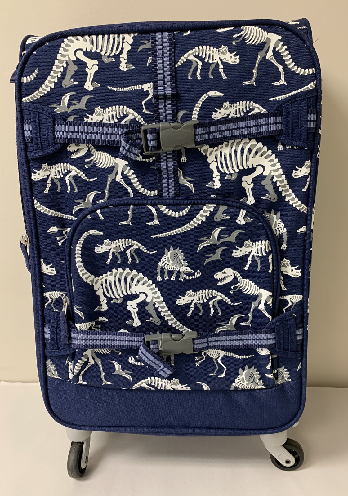Pottery Barn Kids Mackenzie Large Rolling Spinner Luggage Dinosaurs New (A TO)