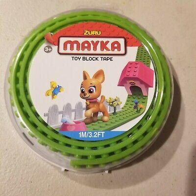 Light Green Zuru Mayka Tape 1M 3.2FT 2 Stud.Toy building Block parts tape