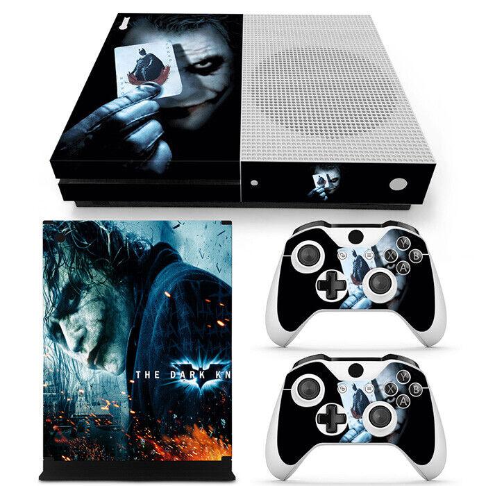 Xbox One S - Dark Joker Console Vinyl Skin Decal Sticker + 2 Controller Skins