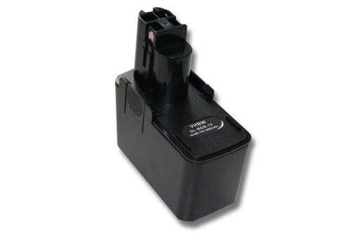 PSR 12VES-2 BATTERIE d/'outil 12V 3000mAh noir pour Bosch PSR 120