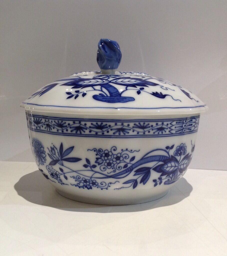 Hutschenreuther - bleu Zwiebelmuster - Scatola rougeonda 15xh13 - Rivenditore