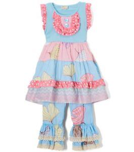e68484d99e7a Girls TUTU & LULU boutique outfit 2T 3T 4T 5 6 7 8 NWT tiered ruffle ...