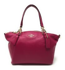 b516d352f4 Coach Cranberry Pebbled Leather Small Kelsey Satchel - NWT -  295 MSRP!
