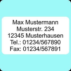 130-Adressetiketten-Aufkleber-abgerundete-Ecken-bedruckt-m-ihrem-Wunschtext-EDEL