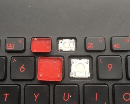 Asus RoG G751 G751J G751JT UK Gaming Keyboard *One Key Only* Black Red