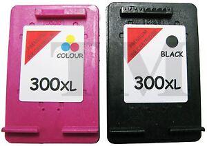 Remanufactured-300XL-Black-amp-Colour-Ink-Cartridge-Combo-fits-HP-Deskjet-F4580