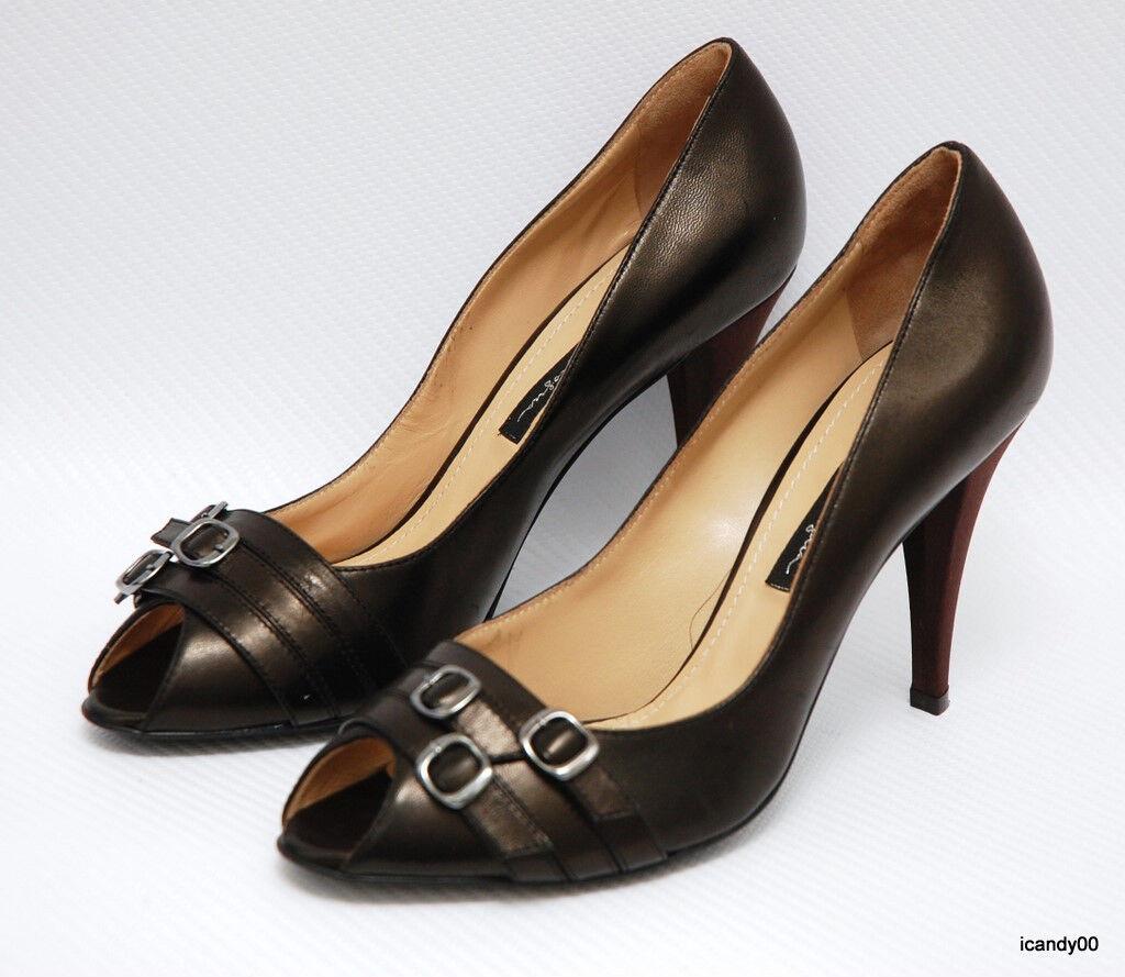 New  650 Mario Prologua  Leather Open Toe Classic Pump Heel shoes 8 39