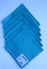 """6 Pc Blue Cloth Napkins 17"""" x 17"""" by Solitaire 100% Cotton"""