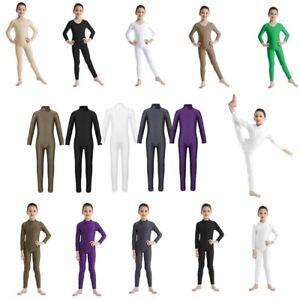 Children Kids Girls Plain 3//4 Leggings Party Gymnastics Ballet Dance Pants 3-8 Y