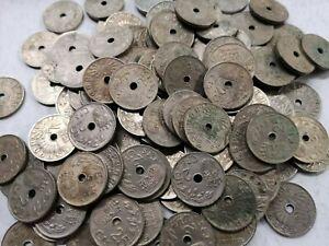 Lote-de-5-monedas-de-25-centimos-1937-Estado-Espanol-Franco-SC-a-F-Spain-coin