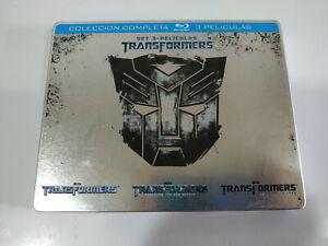TRANSFORMERS-1-2-3-Trilogy-Steelbook-3-X-Blu-ray-Espanol-English-AM