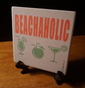 Image Is Loading Beachaholic Tropical Drinks Beach Tiki Bar Stone Coaster