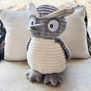 Teddy Bear Stuffed Toy, Kordy Jr Stuffed Plush Owl By Unipak 10 Gray Cream Textured 640048188430 Ebay