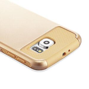 Gold Samsung Galaxy S6 Case Hybrid Shockproof Hard Rugged Heavy Duty Cover