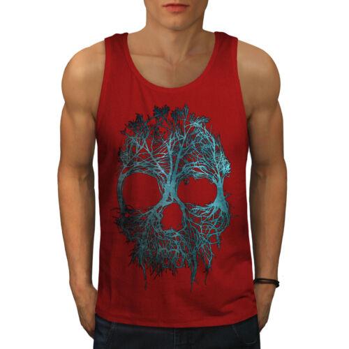 Angel Active Sports Shirt Wellcoda Nature Tree Metal Skull Mens Tank Top