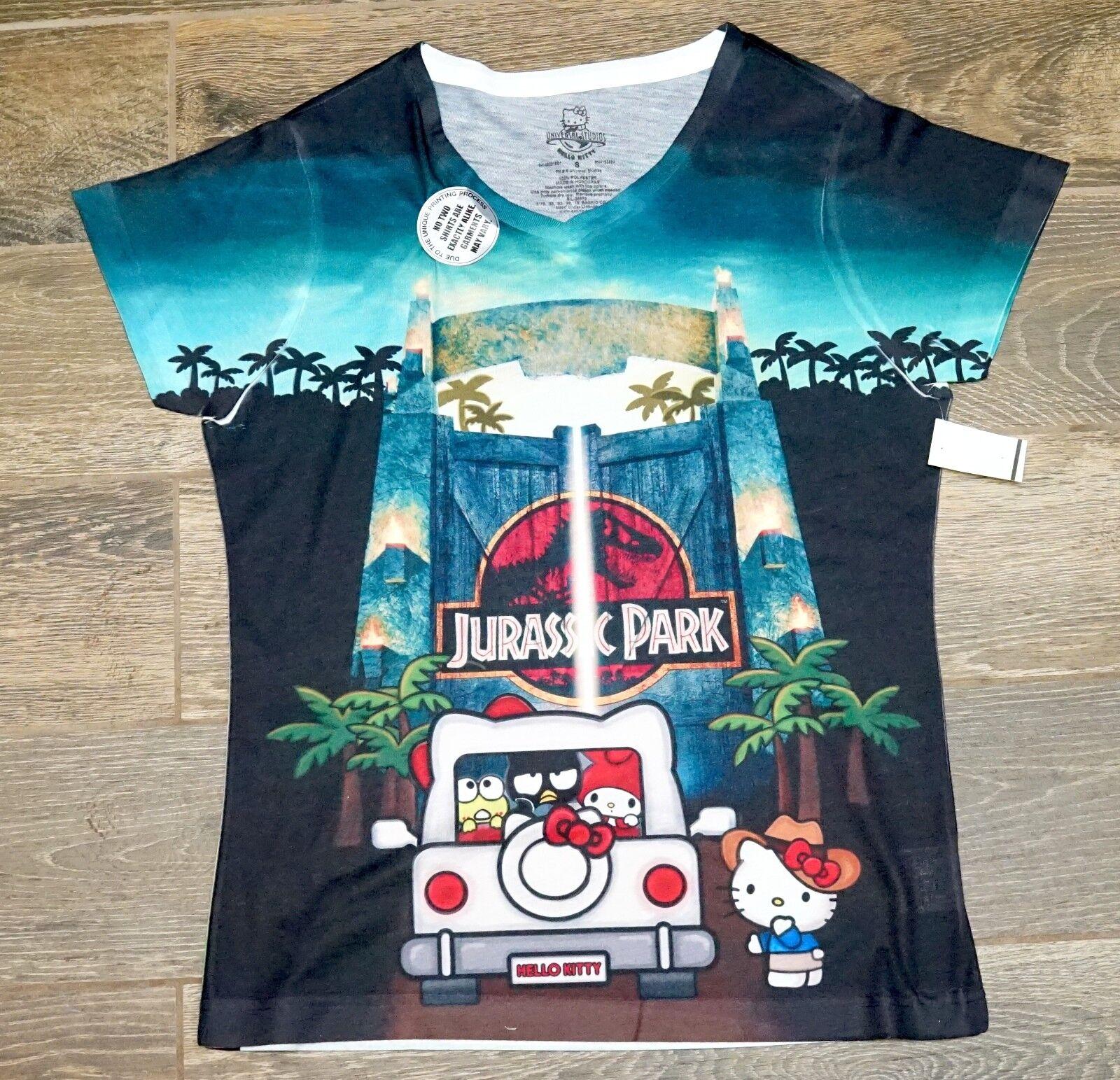 Universal Studios Hello Kitty Jurassic Park Tie Dye damen Shirt S - 2XL