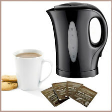 Black 1.7 Litre Electric Kettle Cordless Kitchen Perfected 3 Pints Water Boiling