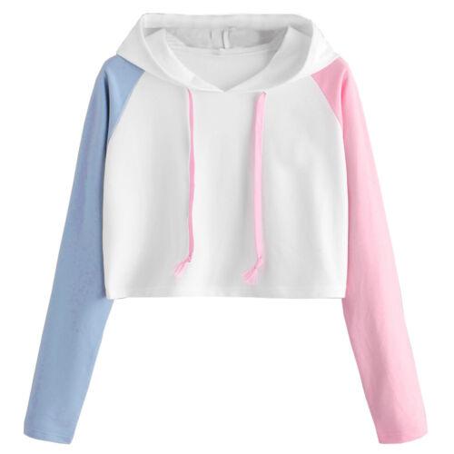 Plus Women Baggy Hoodies Sweatshirt Ladies Hooded Tops Jumper Pullover Shirts OK