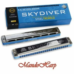 Seydel-Tremolo-Harmonica-25480-SKYDIVER-SELECT-KEY-NEW