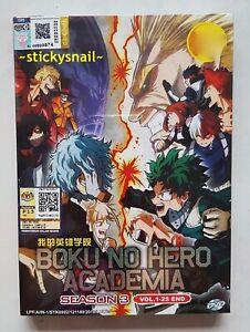 Details about Anime DVD Boku no Hero Academia Season 3 Vol  1-25 End ENG  VERSION All Region