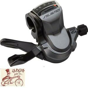 SHIMANO-ALIVIO-M4000-RAPID-FIRE-9-SPEED-GREY-REAR-BICYCLE-RIGHT-SHIFTER