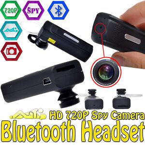 bluetooth headset earphone hd 720p spy camera mini dvr dv video audio recorde. Black Bedroom Furniture Sets. Home Design Ideas