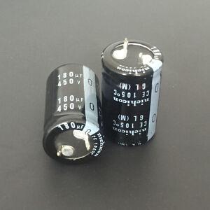 10pcs-180uF-450V-Japan-Nichicon-GL-25x35mm-450V180uF-Snap-in-Capacitor