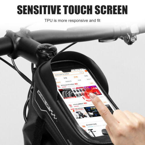 Mountain Bike Top Tube Bag Touchscreen Bicycle Cycling Waterproof Phone Case
