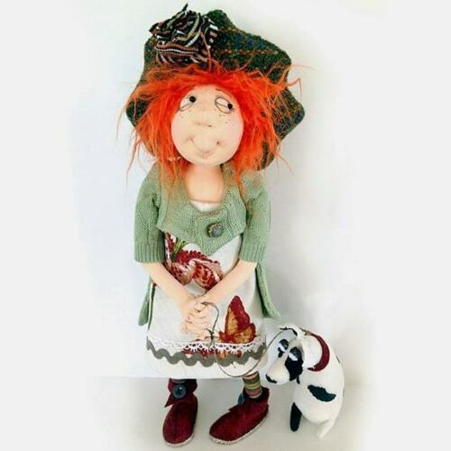 "Cloth Art Doll Pattern /""Danika and Rocco/"" By Jill Maas"