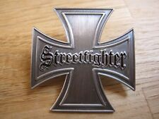 Streetfighter Pin Anstecker Biker Eiserenes Kreuz Iron Cross MC Motorrad Club