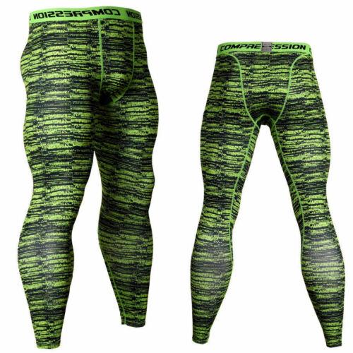 Men/'s Gym Compression Slim Tight Couche De Base Sports Leggings Running Pantalon M-3XL