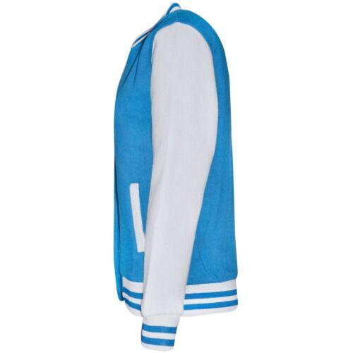 Kids Boys Baseball Blue Jacket Varsity Style Plain School Jacket Top 2-13 Years
