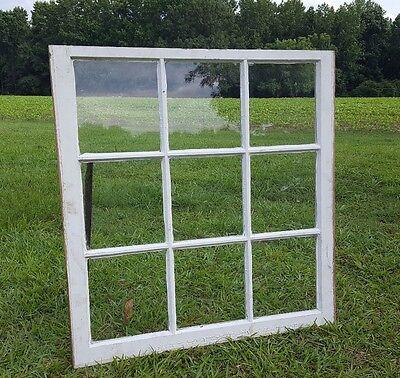 VINTAGE SASH ANTIQUE WOOD WINDOW PICTURE FRAME PINTEREST RUSTIC 9 PANE 37x32