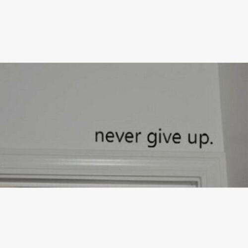 Motivational Quotes Wall Sticker Never Give Up Work Hard Vinyl Wall Decal CZ