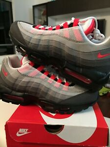 Details about Nike Air Max 95 OG Solar Red White off flyknit size 8.5